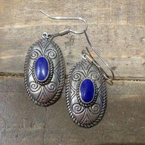 Jewelry - sterling silver lapis earrings